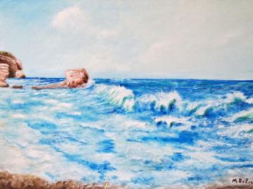 Mare in tempesta ad Agosto a Tropea, spiaggia Passo Del Cavaliere
