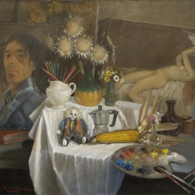 Immagine di rappresentanza - Allegoria dell'Arte-cm.80x100-Olio su tela.
